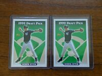 2 Derek Jeter 1993 Topps baseball draft pick #98 New York Yankees RC rookie