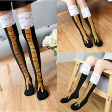 Womens Funny 3d Chicken High Socks Creative Cartoon Animals Thigh Stockings Mens