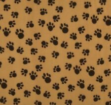 Fleece Pfoten Tatzen Caramel Paws Atmungsaktiv Stoffe Tiermotive Polarfleece