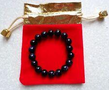 "New 10 MM Blue Sandstone Round Beads Bracelet 7.2"""
