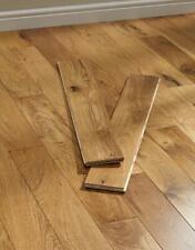 **Sample** Solid Oak Hardwood Natural UV Lacquered Flooring - 18mm x 125 x RL mm