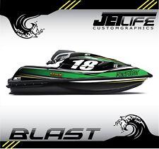 Custom Jet Ski Decal kit Kawasaki SX R 2017 2018 BLAST style stickers graphics