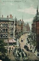 1906 VINTAGE CORPORATION STREET BIRMINGHAM POSTCARD - USED - to Alvaston, Derby