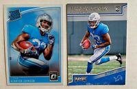 2018 Panini Optic Kerryon Johnson Rated Rookie and Playoff RC Detroit Lions