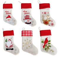 Christmas Stocking Large Sock Santa Claus Gift Candy Bag Xmas Tree Hanging 2019H