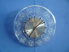 Wunderschöne Wanduhr Bleikristall und Handgeschliffen 60er Mid-Century