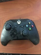 PDP Camo BLACK Wired Controller for Xbox One & Windows ~USED FREE SHIPPING