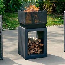 New listing Dellroy Polyresin Wood Burning Fire Pit~Modern~Urban~Faux Stone