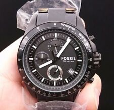 NEW OLD STOCK FOSSIL CH2601 CHRONOGRAPH DATE SS QUARTZ MEN WATCH