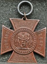 "Womans Relief Corps ""Iron Cross"" medal sans ribbon 1883 original"