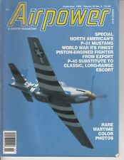 Airpower Magazine P51 Mustang Wartime Color Photos September 1995 / Airplane /Q2