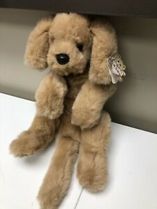 "Vintage 1985 Gund Muttsy Plush LARGE 24"" Dog Suede Paws Golden Retriever Puppy"