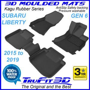 Fits Subaru Liberty 2015 - 2020 - 3D Kagu black Rubber Floor Mats