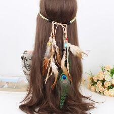 Boho Hippie Indian Feather Headband Hairband Carnival Party Headdress Headpieces