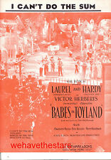 "BABES IN TOYLAND Sheet Music ""I Can't Do The Sum"" Laurel & Hardy"