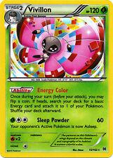 2x Pokemon XY BREAKthrough Vivillon 15/162 Holo Rare Card