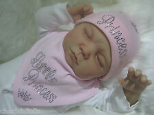 REBORN BABY DOLL OR NEW BABY LIL PRINCESS RHINESTONE BLING OUTFIT NEWBORN GIFT