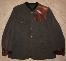 vtg 1940' 50's Loden Style Hunting Club Jacket Austrian or German Made Mens L