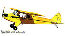 "Model Airplane Plans (FF): Piper Cub J5 Scale 27-19/32""ws Rubber Powered (Comet)"