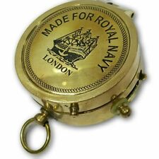 Made For Royal Navy Brass Pocket Compass