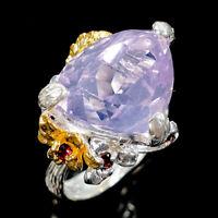 Fashion Design Natural Lavender Amethyst 925 Sterling Silver Ring Size 8/R111244