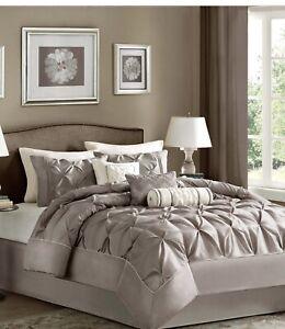 Madison Park Laurel 7 Piece Comforter Set Color: Tauper, Size: King