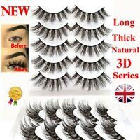 5Pairs 3D Natural False Eyelashes Long Thick Mixed Fake Eye Lashes Makeup Mink *
