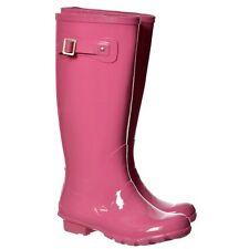 mujer chica Plano Botas De Agua Wellington Festival lluvia carlino perros
