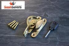 Box of x 10 Sliding Sash Window Locking Fitch Lock Fastener - Gold/Brass