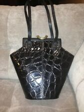Glen Miller For Ann Turk Clutch Bag Black With Gold Clasp