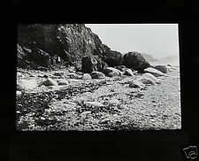 Glass Magic lantern slide BOULDER GLAY  C1910 GEOLOGY