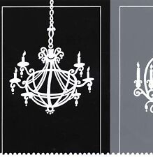 Wallpaper Border Modern White Chandeliers on Blocks of Black & Gray