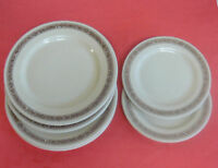 6  Art Deco Mid Century MAYER CHINA PLATES MALDEN MAYAN WARE MANGRUM HOLBROOK