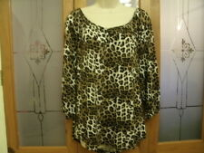 Bnwt M&S Ladies 3/4 sleeved Animal print top size 16 natural mix