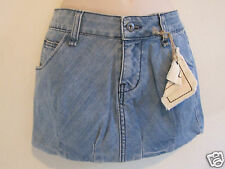 Nwt Car Mar LF Stores Designer Jeans Denim Bubble Mini Skirt Sz 25 0 Light Wash
