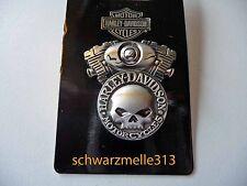 Original Harley Davidson   Skull  G. Willis   Motorblock   Pin NEU!!!