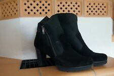 Stiefelette Gr. 40,5 (7)echt Leder schwarz, Paul Green, wie neu