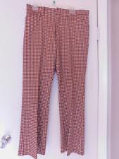 Vintage Men's 35 x 29 Levi's Sportswear Knit Brown White Checkered Pants Slacks