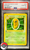 1999 Pokemon Base Set Kakuna Shadowless 1st Edition #33 PSA 10 Gem-Mint