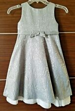 *NEW!* Charter Club Girls' Brocade Dress Silver Wedding Holiday Party Size 5