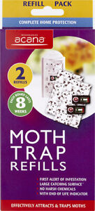 2 Acana Moth Monitoring Trap Refills Chemical Free Last 8 Weeks Attracts & Traps