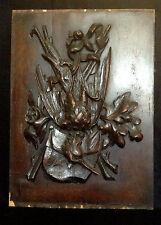 Pannello in legno  intagliato Scena di caccia