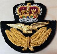 1953 - 1970's ROYAL AUSTRALIAN AIR FORCE OFFICER'S UNIFORM CAP BADGE RAAF RAF