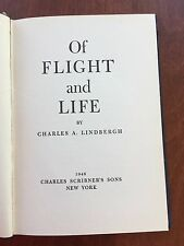 "Charles Lindbergh ""Of Flight and Life"" Scribner HC 1948 pp56 War Science No DJ"