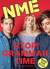 The NEW MUSICAL EXPRESS NME 18 August 2017 London Grammar Cover n.m.e. grammer