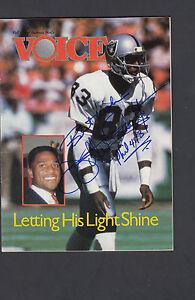 Willie Gault Oakland Raiders Autographed Gospel Pamphlet Voice