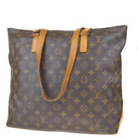 Auth LOUIS VUITTON Cabas Mezzo Shoulder Bag Monogram Leather BN M51151 37MD592