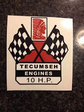 Tecumseh 10 HP  Engine Decal Mini Bike Go Cart
