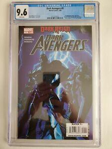 DARK AVENGERS #1 CGC 9.6 NM/MT 1st Appearance Marvel Comics 2009 FRESHLY GRADED