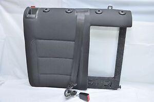 2012 VW Golf Rear Right Seat W/ Belt Dark Grey Cloth Seat OEM